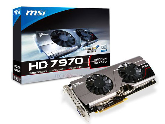 MSI Radeon HD 7970 Boost Edition - новая карта с кулером Twin Frozr III